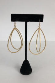 Toto Collection Gold Plated Drop Earrings - Product Mini Image