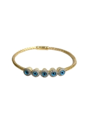 Lets Accessorize Gold-Plated Evil-Eye Bangle - Product Mini Image