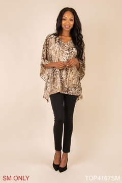Simply Noelle Gold Poncho Top - Product List Image