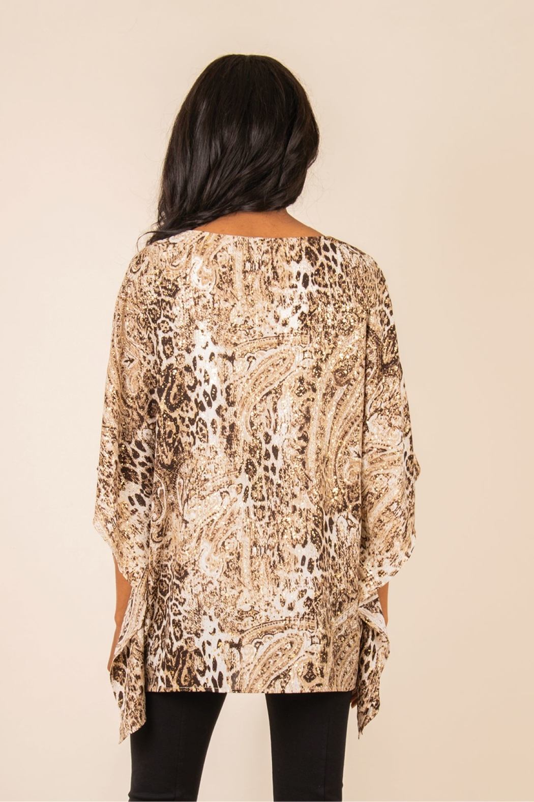 Simply Noelle Gold Poncho Top - Front Full Image