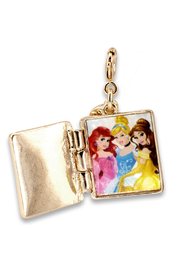 Charm It Gold Princess Book Charm - Side cropped