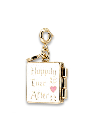 Charm It Gold Princess Book Charm - Back cropped