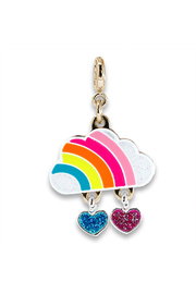 Charm It Gold Rainbow Cloud Charm - Front cropped
