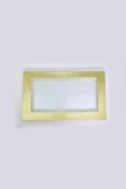 The Birds Nest GOLD RECTANGULAR SERVING TRAY 10