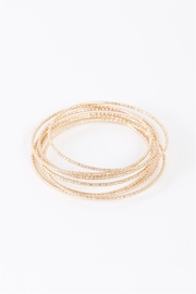 A Project Gold Ribbed 7 Ring Bracelet - Product Mini Image