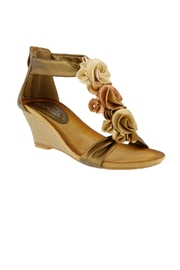 Spring Footwear Gold Rose Wedge - Product Mini Image