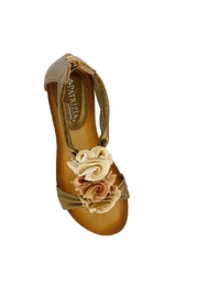 Spring Footwear Gold Rose Wedge - Front full body