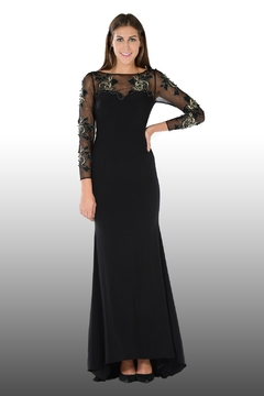 POLY USA Gold Roses Mother of the Bride Gown - Product List Image