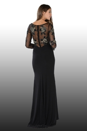 POLY USA Gold Roses Mother of the Bride Gown - Front full body