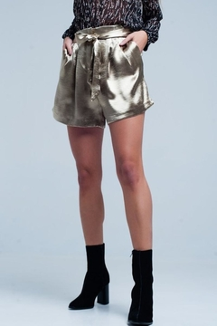 Q2 Gold Satin Shorts - Product List Image