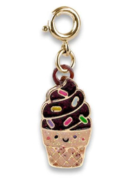 Charm It Gold Scented Chocolate Soft Serve Cone Charm - Product Mini Image