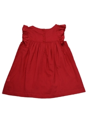 Cheeni Baby Gold-Sequin-Accented Red Dress - Front full body