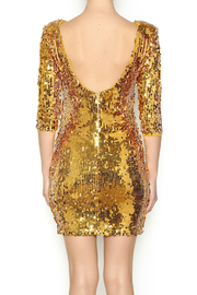 Gold Sequin Dress - Back cropped
