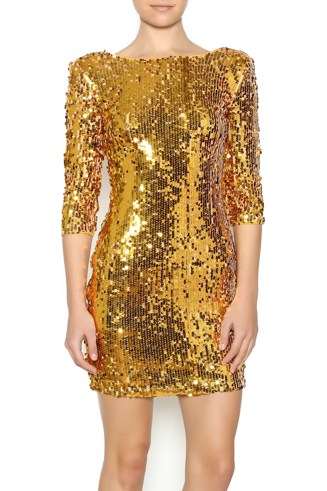 Gold Sequin Dress - Main Image