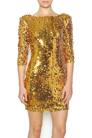 Gold Sequin Dress - Front cropped