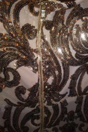 Trac Gold Sequin Lace Dress Size Small - Side cropped
