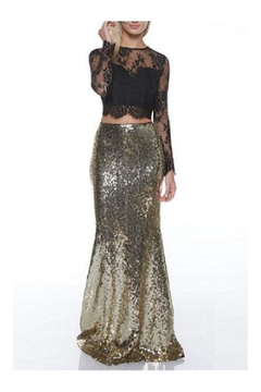 Shoptiques Product: Gold Sequin Maxi