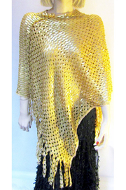 KIMBALS Gold Sequin Poncho - Product Mini Image