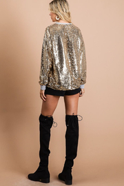 Bibi Gold Sequin Top - Other