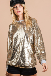 Bibi Gold Sequin Top - Product Mini Image