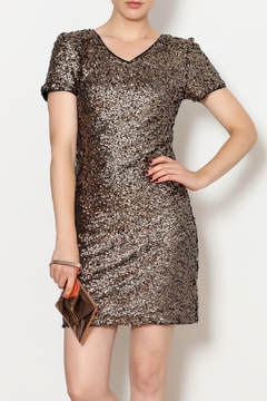 She + Sky Gold Sequins Mini Dress - Product List Image