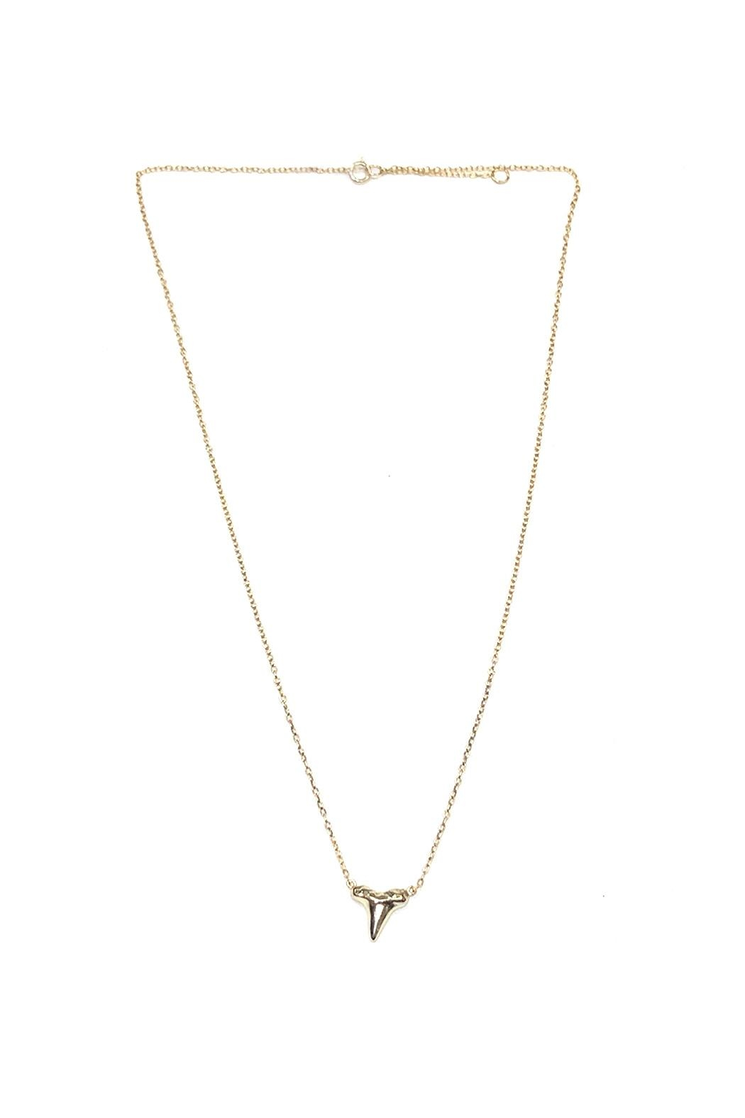 Lets Accessorize Gold Shark-Tooth Necklace - Main Image