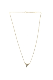 Lets Accessorize Gold Shark-Tooth Necklace - Front cropped
