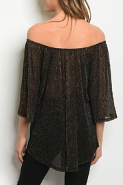 Audrey 3+1 Gold Shimmer Top - Front full body