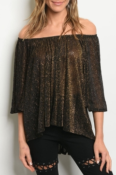 Audrey 3+1 Gold Shimmer Top - Product List Image