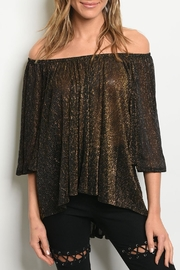Audrey 3+1 Gold Shimmer Top - Front cropped