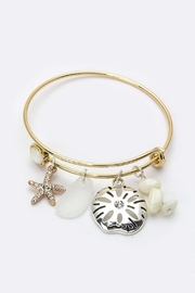 Viola  Gold-Silver Bangle With-Charms - Product Mini Image