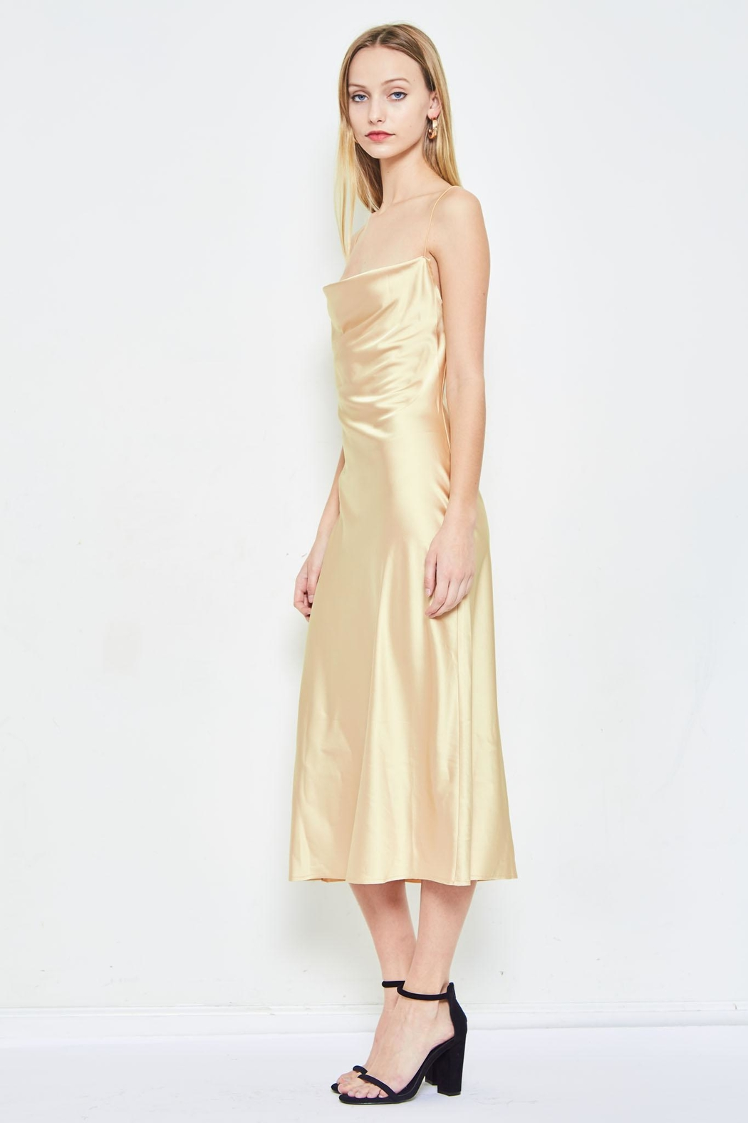 dabd1645811fc etophe studios Gold Slip Dress from Los Angeles by Chikas — Shoptiques