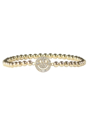 Jaimie Nicole Gold Smiley-Face Bracelet - Product Mini Image