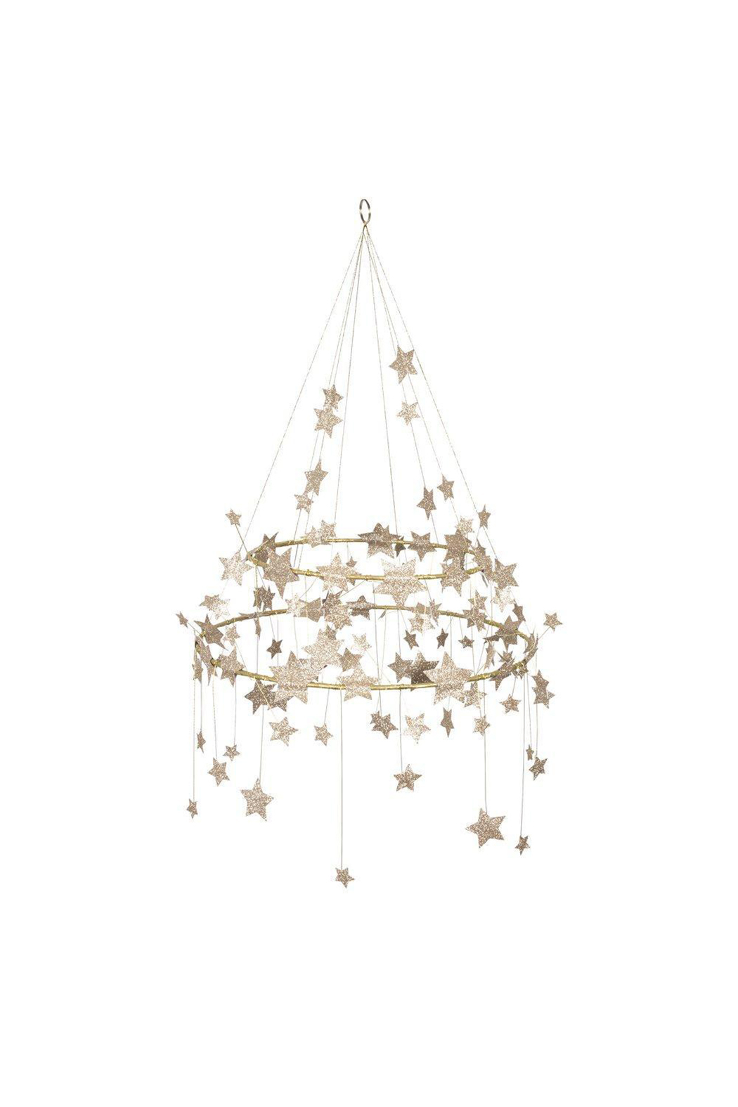 Meri Meri  Gold Sparkle Star Chandelier - Main Image
