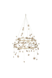 Meri Meri  Gold Sparkle Star Chandelier - Front cropped