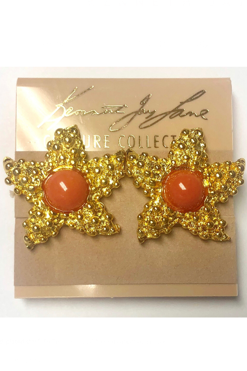 Kenneth Jay Lane Gold Starfish Clip Earrings - Main Image