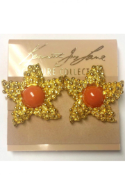 Kenneth Jay Lane Gold Starfish Clip Earrings - Front cropped