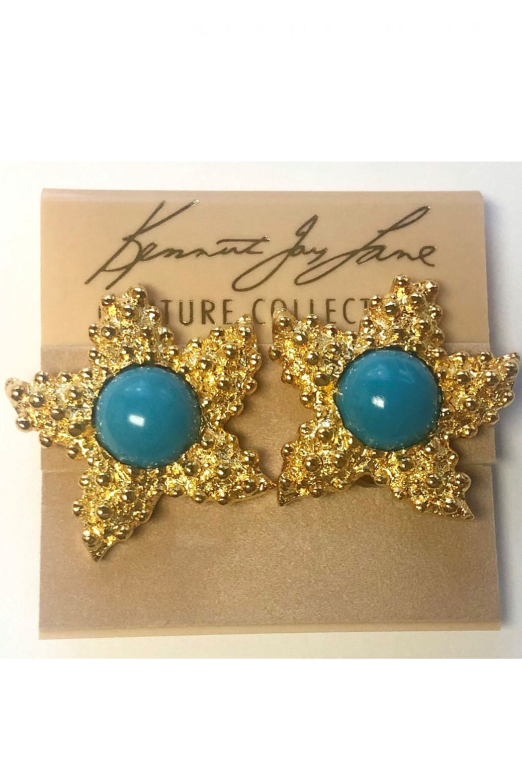Kenneth Jay Lane Gold Starfish Clip Earrings - Front Cropped Image