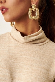 frontrow Gold Statement Earrings - Product Mini Image