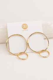 Gorjana Gold Stud Hoops - Front full body