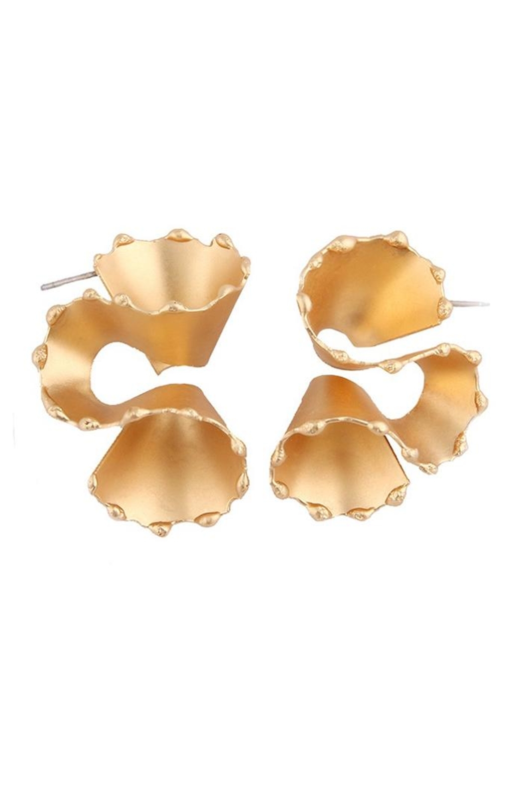 Madison Avenue Accessories Gold Swirl Earring - Main Image