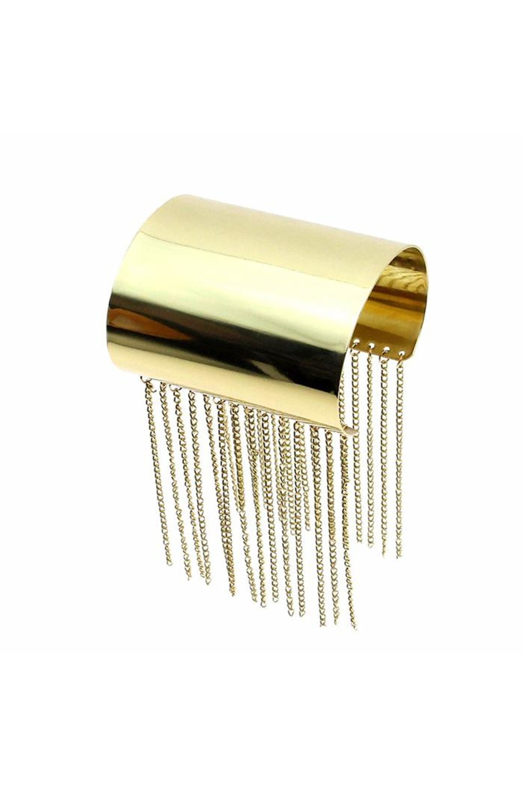 Madison Avenue Accessories Gold Tassel Cuff - Front Cropped Image