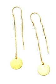 Lets Accessorize Gold Threader Earrings - Front cropped