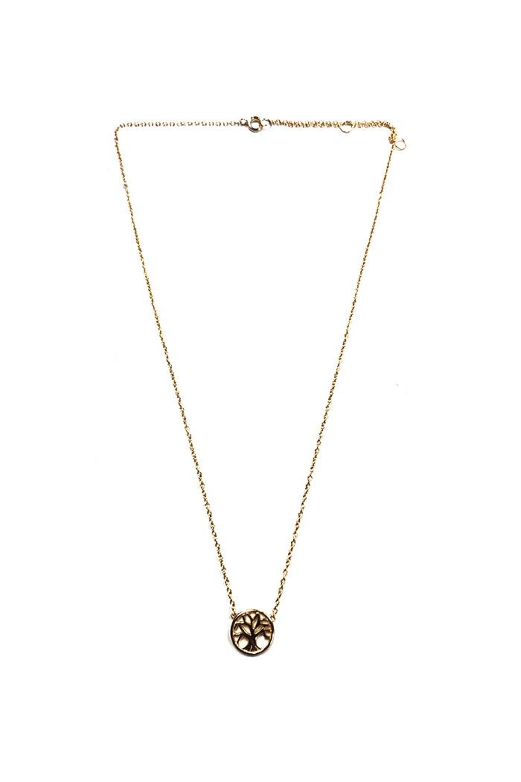 Lets Accessorize Gold Tree-Of-Life Necklace - Main Image