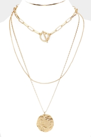 Embellish Gold Triple Necklace - Product Mini Image