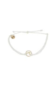 Pura Vida GOLD WAVE BRACELET-WHITE STRING - Product Mini Image