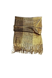 Love's Hangover Creations Gold Wedding Scarf - Front full body