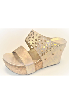 Very Volatile Gold Wedge Sandal - Alternate List Image
