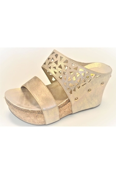 Very Volatile Gold Wedge Sandal - Product List Image