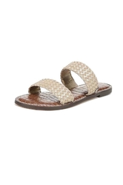 Sam Edelman Gold Woven Sandals - Product Mini Image